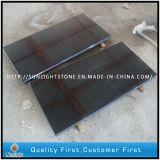 Mattonelle di pavimentazione scure del granito del nero G654 del sesamo di Padang, mattonelle esterne