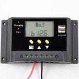 contrôleur solaire de charge de la batterie de 12V/24V 20A avec USB5V/2A duel Sm20