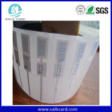 Collant ou carte adhésif d'IDENTIFICATION RF de fréquence ultra-haute d'ISO18000-6c