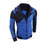 Застежка -молния крышки куртки Bodyfit зимы цвета комбинации теплая вверх по Hoodie людей