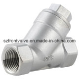 Válvula de retenção Y-Spring de aço inoxidável de fundição de precisão