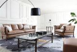 Итальянская натуральная кожа современное 1+2+3 диван