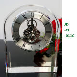 Office ShowのためのローマのLuxury Crystal Mechanical Desk Clock