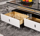 Mármore branco moderno superior mesa de café