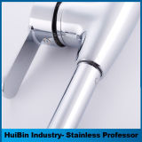 Sanitarios OEM cromados de latón cubierta de un solo orificio montado Mezclador de agua fría y caliente del grifo lavabo