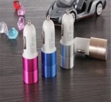 Carregador colorido branco/preto do carro de bateria do carregador de bateria do carro do chapeamento, carregador do carro de duas portas/carregador solar para a bateria de carro