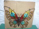 絶妙な鉄のハングの装飾の多彩の蝶クラフト