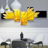 El arte de la pared de metal de girasol para la decoración del hogar