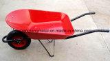 Carrinho de mão de roda padrão da construção resistente da bandeja do metal com roda pneumática Wb5009