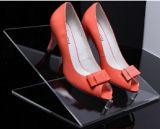 Garniture intérieure claire acrylique en plastique d'étalage de chaussure