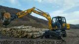 Venta caliente de madera de los excavadores de la máquina y de la rueda del nuevo cargamento