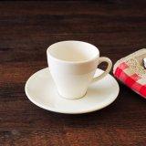 Tazza di ceramica del Cappuccino dell'America del piattino della tazza di tè del tulipano della tazza della tazza di ceramica bianca del caffè espresso