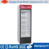Refrigerador vertical de la exhibición de la bebida suave de la puerta de cristal transparente