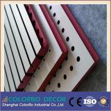 Panel acústico de madera rosada de ranura MDF