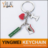 Smalto Logo Metal Letter Key Ring con Logo Color Filled
