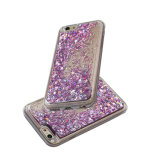 Caja líquida del teléfono móvil de la arena movediza de la estrella del brillo de TPU para el iPhone