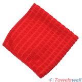 Красная ткань из микроволокна клетчатого кухня блюдо полотенце