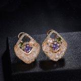 女の子のラインストーンのCubiciのジルコニアの真珠の女性宝石類セット