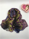 Neuer Art100%polyester Faux-Silk Leopard Degital Druck-Form-Schals
