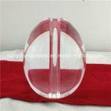 ランプのホールダーの穴があいた球の楕円形の透過クリスタルグラスの球