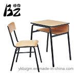 Aula de metal y madera escritorio y silla (BZ-0025)