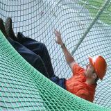 Réseau de sécurité dans la construction d'échafaudage de HDPE d'aperçu gratuit d'usine