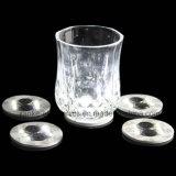 De promotie het Drinken LEIDENE van het Glas Sticker van de Fles met Afgedrukt Embleem (4040)