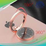 Los dedos de 360 grados Anillo de soporte soporte de teléfono móvil con el Metal el reloj y anillo reloj