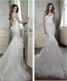 O esparguete Suite Beca Lace Appliqued Mermaid vestido de noiva SA20178