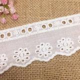 Neue Entwurfs-Blumen-Stickerei-Baumwollspitze für Clothes der Dame