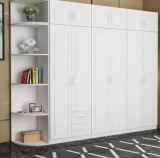 بيع بالجملة 2018 ميلامين رخيصة حديثة خشبيّة غرفة نوم خزانة ثوب تصميم