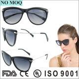 Сделано в солнечных очках оптовой продажи названного тавра Китая с рамками ацетата и висками металла