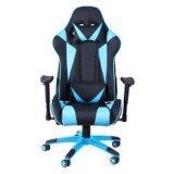 Liegenspiel-Computer-Ineinander greifen, das ergonomischen Stuhl läuft