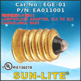 E14 a E12 Candelabra Base, Lampholder Adapter; Ege-01