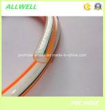 PVCプラスチック繊維強化編みこみの高圧空気スプレーの管のホース