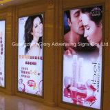 Casella chiara di alluminio a schiocco del blocco per grafici LED per la pubblicità del segno
