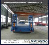 中国頑丈な20mの装置の油圧ステアリング車軸が付いている低いベッドのトレーラー
