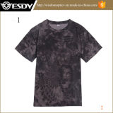Men's Hot Camo Quick-Drying respirant Tee-shirt col rond