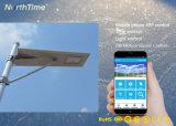 Smart 30W tout-en-un rue solaire LED Lampes avec batterie au lithium