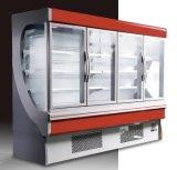 Refrigerador vertical de Multideck de las puertas de cristal de Dispay del refresco