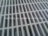 Escala enjaulada FRP/GRP de la fibra de vidrio, puerta de acero de cristal de la parrilla