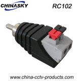 """Connecteur mâle CCTV RCA avec borniers """"Press-Fit"""" (RC102)"""
