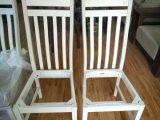 장식 구획을%s 가진 의자를 식사하는 박달나무 Soild 목제 백색 색깔
