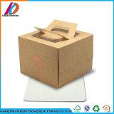 Het milieuvriendelijke Vakje van de Cake van het Document van Kraftpapier van het Ontwerp van het Huwelijk van de Verjaardag met Handvat