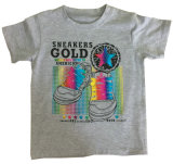 Тенниска мальчика для одежд детей с печатью воды в мягком качестве Sqt-606