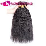 최고 질 Virgin Remy 사람의 모발은 자연적인 색깔 Malaysian 비꼬인 똑바른 Yaki를 묶는다