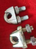 Cuerda de alambre galvanizada aparejo del hardware que ajusta el clip del alambre del cable DIN1142