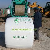 Película plástica branca do envoltório da ensilagem do envoltório LLDPE da grama
