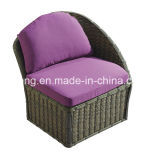 Le sofa réglé de rotin de sofa de double de jardin de qualité a placé avec des selles