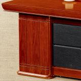 Tabela luxuosa do escritório executivo da base da mobília de escritório da madeira contínua
